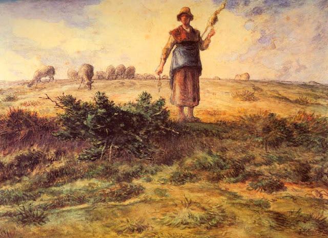 Жан Франсуа Милле - Пастушка и её стадо