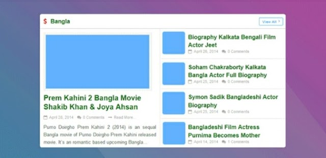 Add Blogger Recent Post Widget By Label With Multi Thumbnails...!!