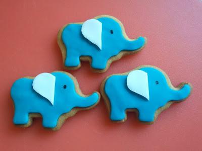 Galletas elefantes fondant