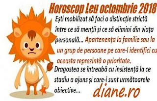 Horoscop Leu octombrie 2018