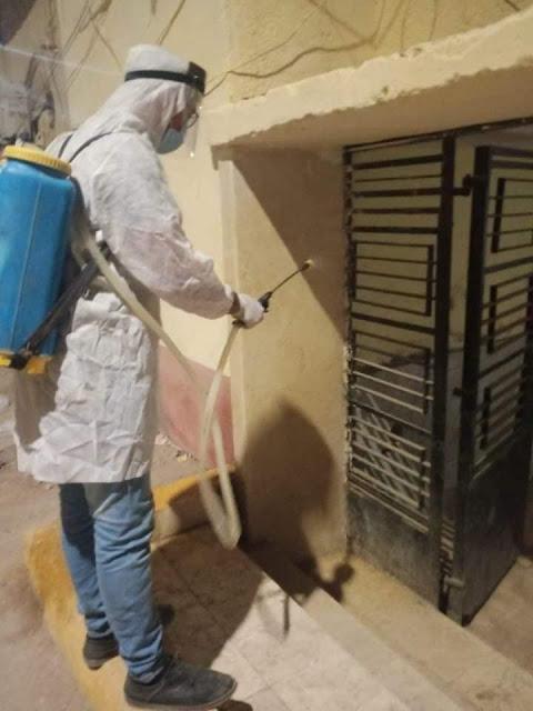 محافظ المنيا يوجه باستمرار اعمال الرش والتطهير والنظافة العامة بالمراكز