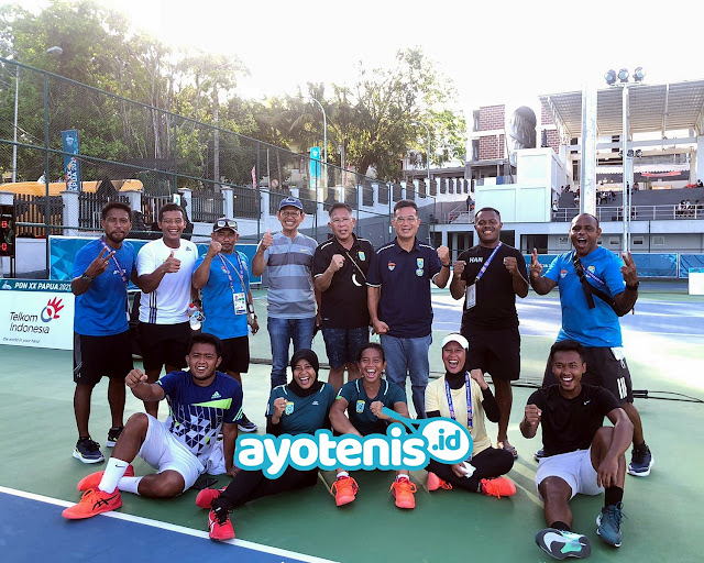 Tim Tenis Putra Putri Pabar Pastikan Raih Medali PON XX Papua. Althaf: Speechless...