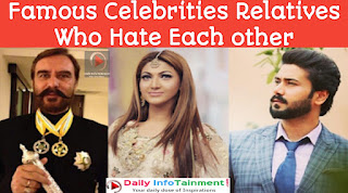 Famous Pakistani Celebrities Relatives Who Hate Each other