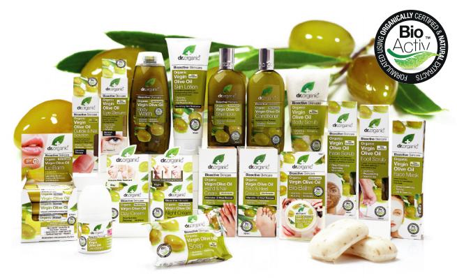 dr organic virgin olive oil lijn