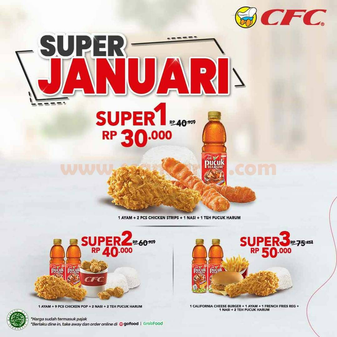 CFC Promo SUPER JANUARI – Harga Spesial Paket Super mulai Rp 30.000
