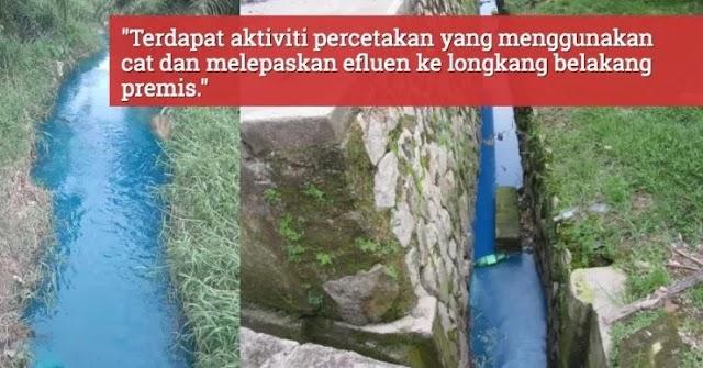 """Air jadi biru"" - Menteri alam sekitar sSahkan sebatang sungai di Johor tercemar"