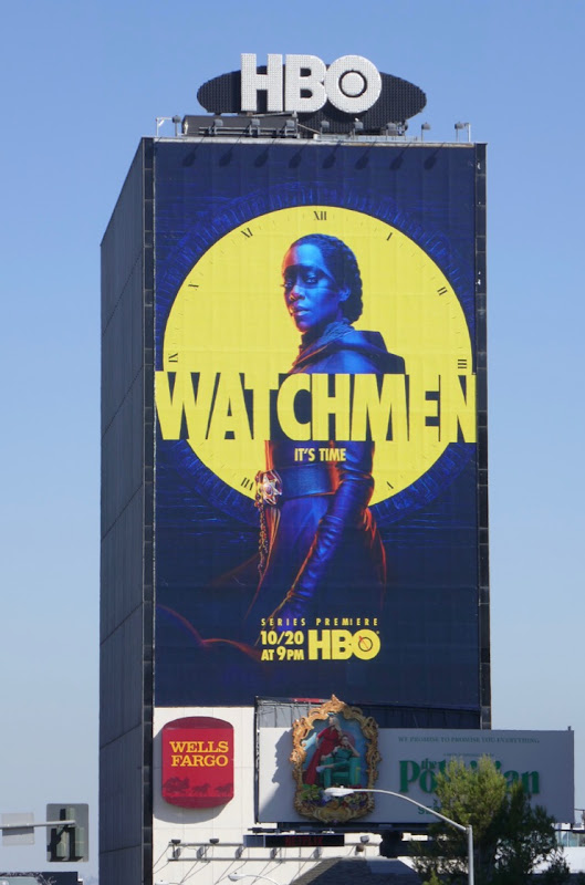 Giant Watchmen series launch billboard