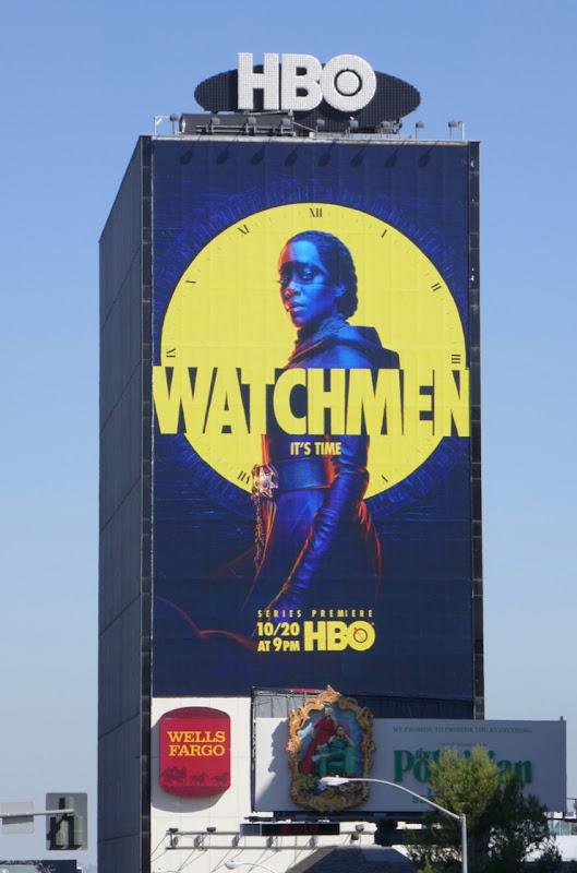 Giant Watchmen series launch billboard