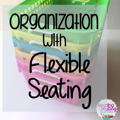 Flexible Seating Storage neon baskets , Flexible Seating Storage and organization
