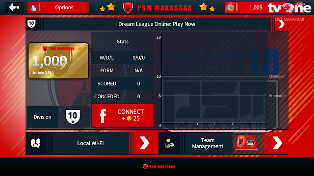 Dream League Soccer 2018 MOD PSM Makassar Base V5.03 By Diptavir