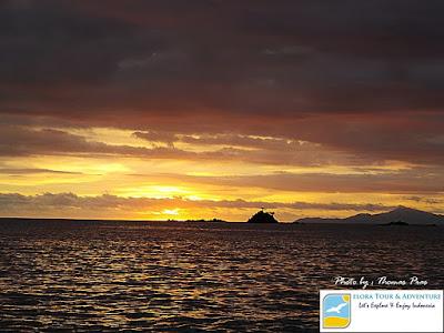 Sunset di Teluk Kiluan