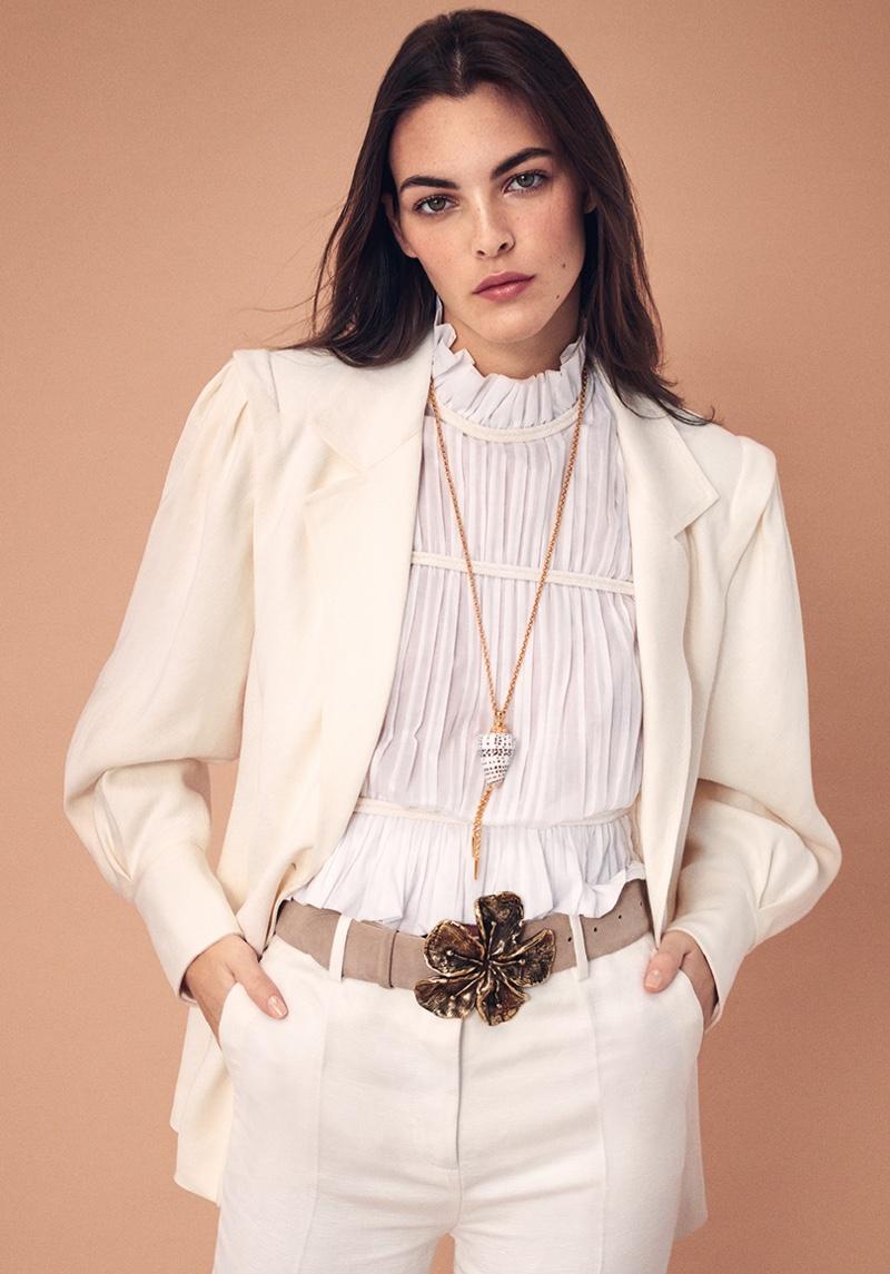 Vittoria Ceretti stars in Alberta Ferretti spring-summer 2021 campaign.