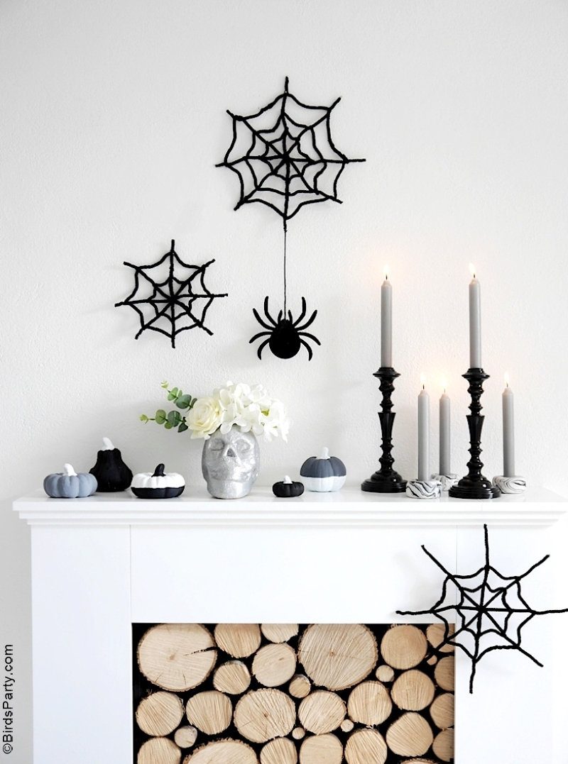 Halloween Mantel DIY Modern Decor