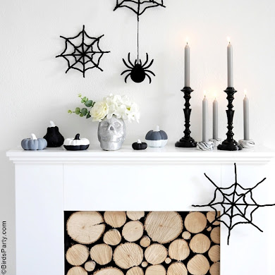 Halloween Mantel DIY Modern Decor
