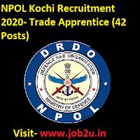 NPOL Kochi Recruitment,Trade Apprentice