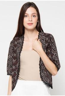 Bolero Batik Elegan Lengan Pendek