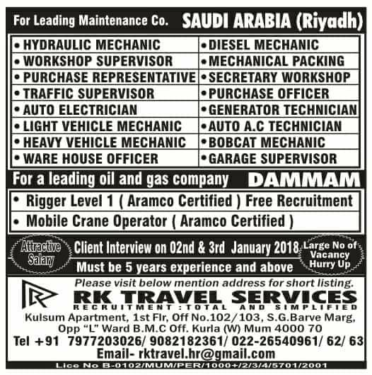 Leading Oil & Gas company JObs for Saudi Arabia - Gulf Jobs for