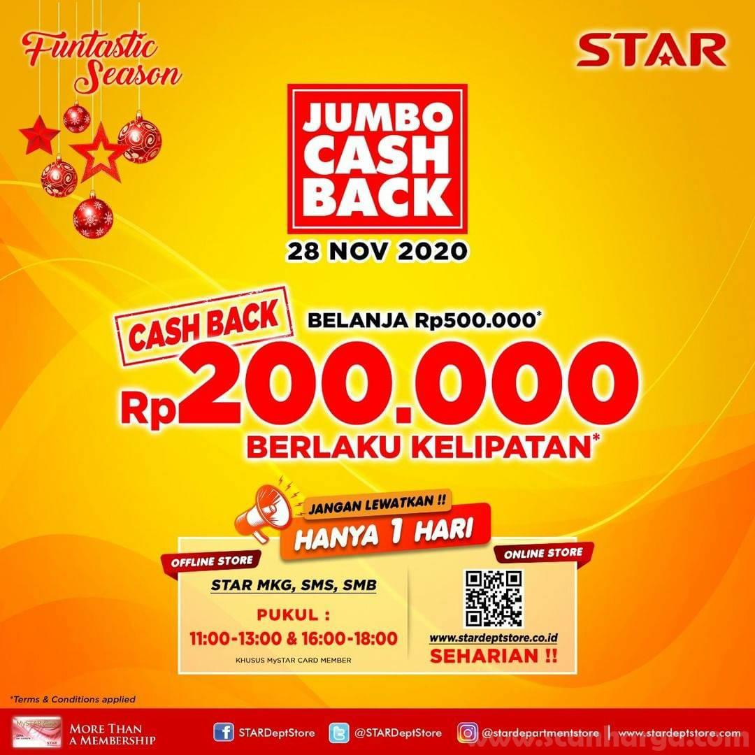 STAR Jumbo Cash Back: Gratis Voucher Belanja Rp 200.000*