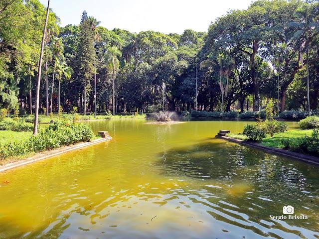 Vista ampla do Lago principal do Parque Jardim da Luz - Luz - São Paulo