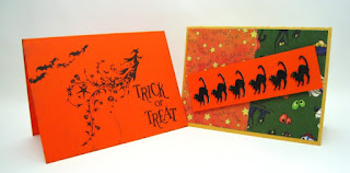 Handmade Halloween cards by Claire 2012