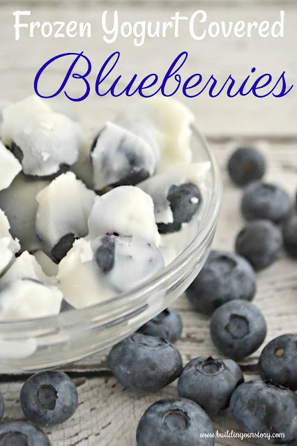 Frozen Yogurt Covered Blueberries, frozen blueberries, frozen fruit for dessert, yogurt covered blueberries, healthy desserts, healthy dessert recipes for kids,