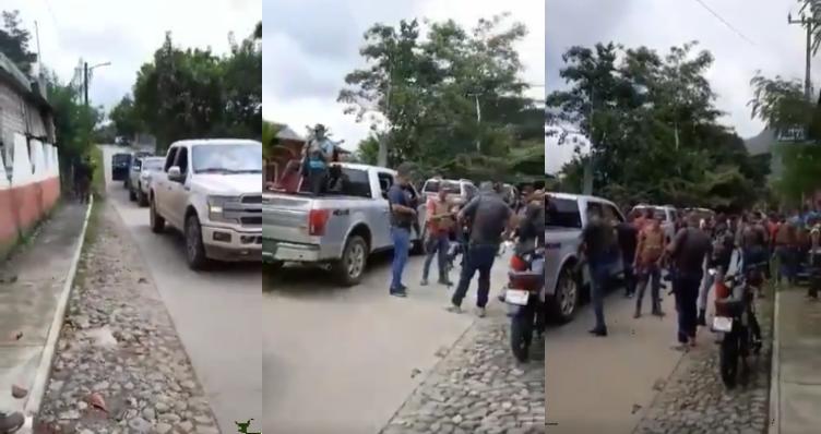 En plena pisteadera y con el flanco descuidado; Decenas de sicarios del CJNG se exhiben en lujosas camionetas en Jalisco