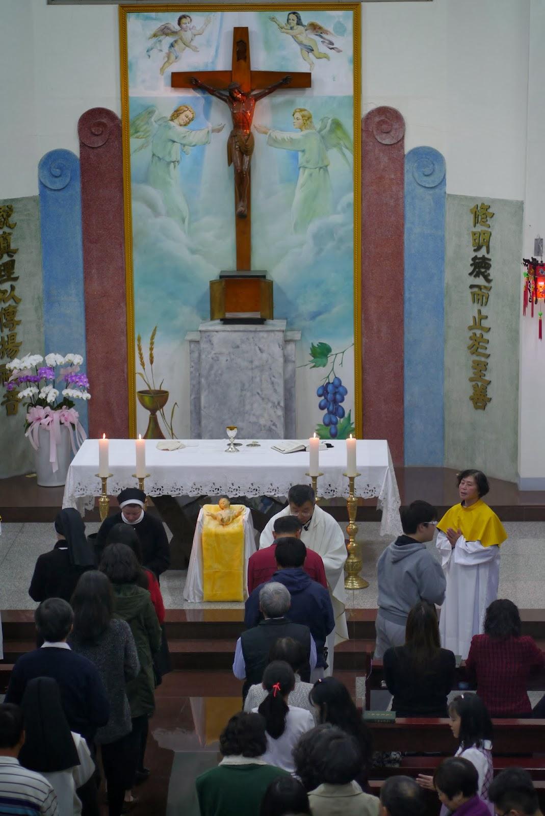 高雄萬福中華聖母堂 (前萬福天主堂) - Wanfu Catholic Church: 2013年子夜彌撒
