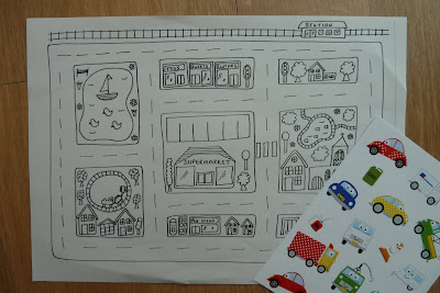 Car layout drawing and car stickers