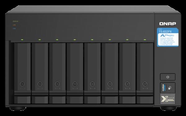QNAP lança o NAS quad-core de 8 baías TS-832PX