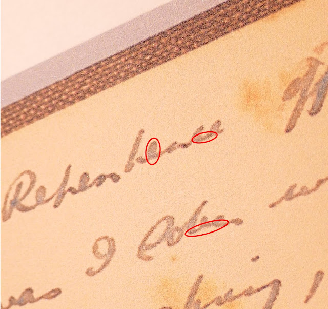 Image showing micro writing on boook cover edge and in words Boxall Rubaiyat