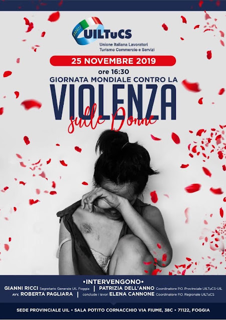 Giornata internazionale contro la violenza sulla donna, l'iniziativa UILTUCS