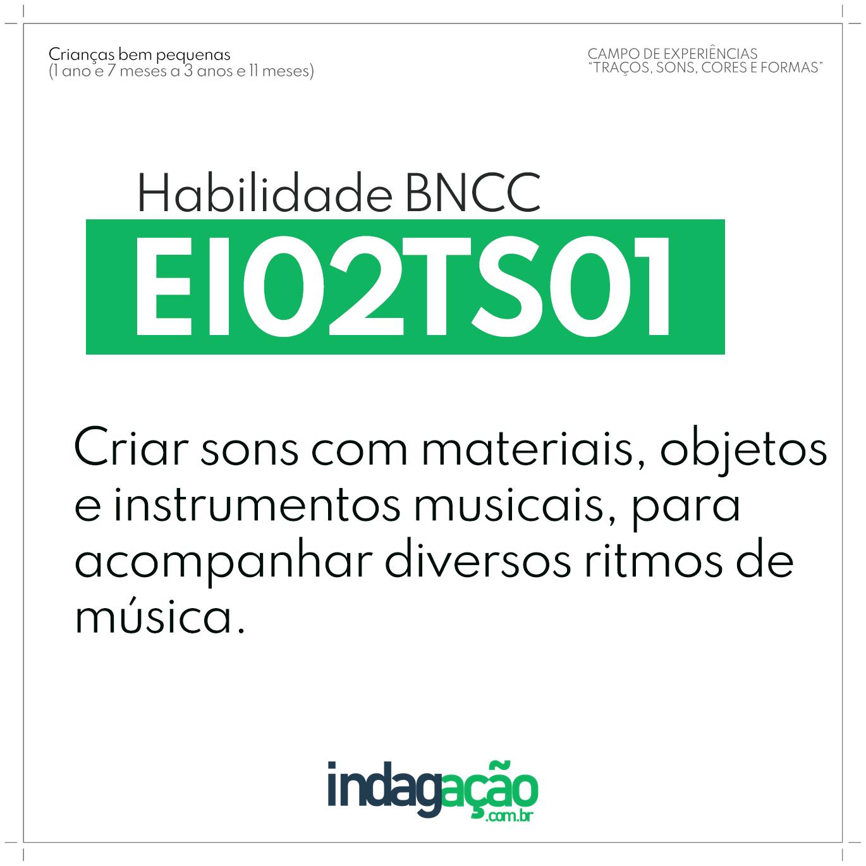 Habilidade EI02TS01 BNCC