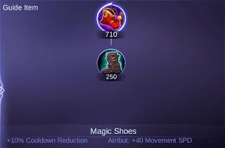 Sepatu yang dapat mengurangi Cooldown Franco