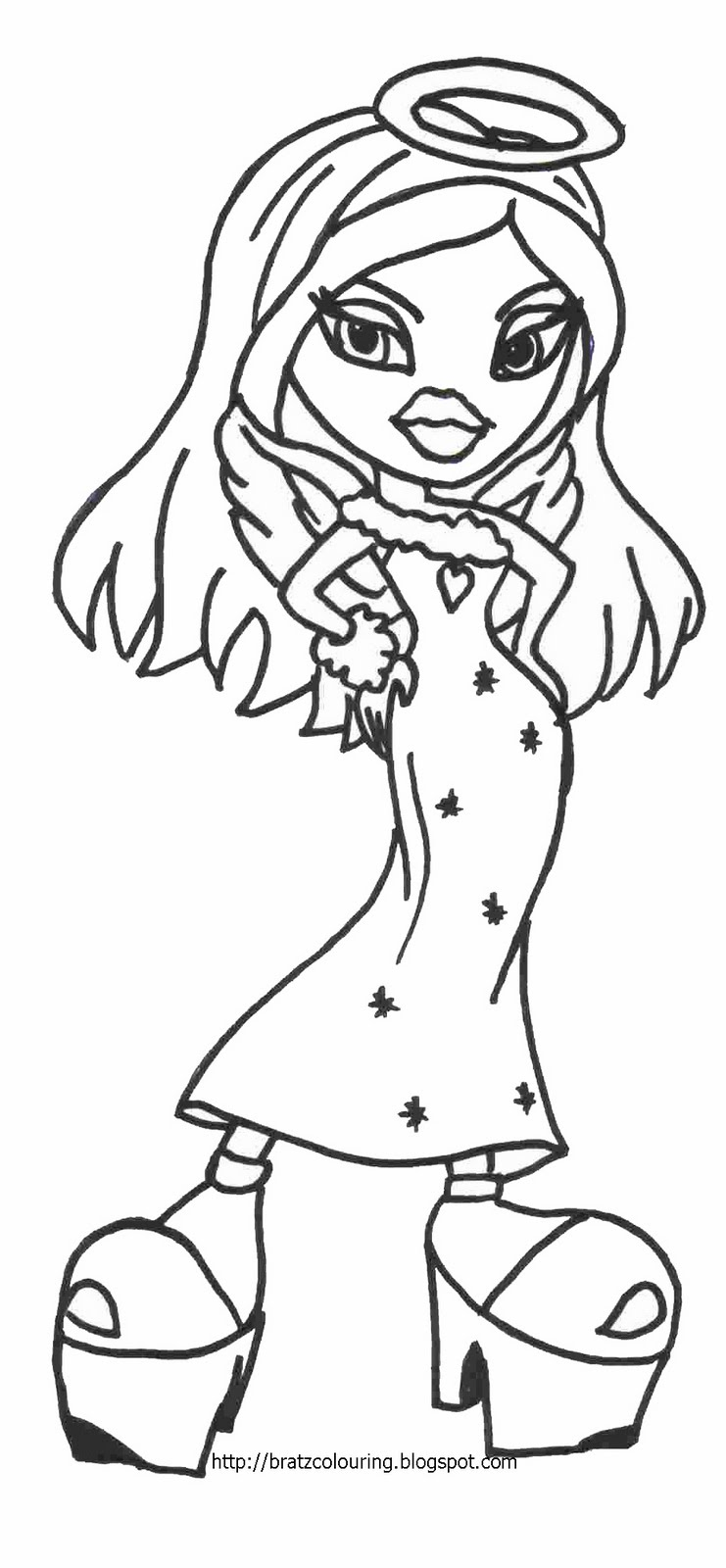 b bratz coloring pages - photo #29