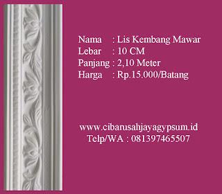 harga lis gypsum motif per batang