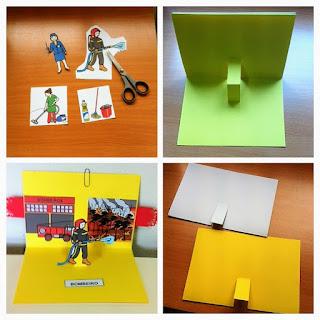 Livro pop up - Materiais