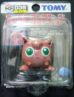 Jigglypuff Pokemon figure Tomy Monster Collection black package series