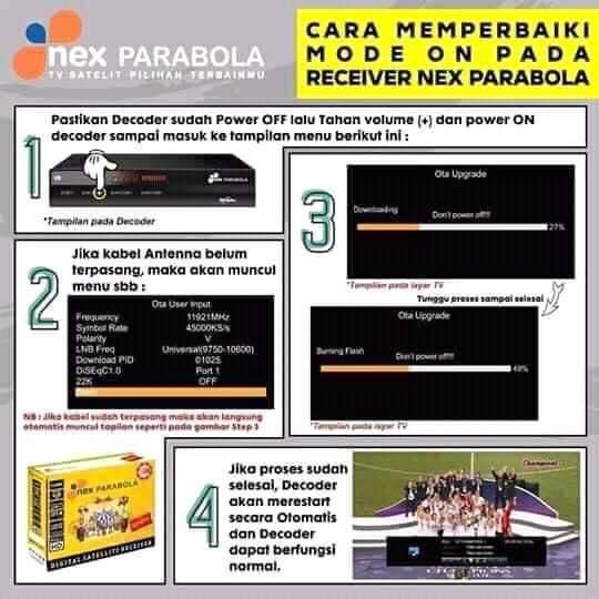 Mode On Nex Parabola Ini Solusinya