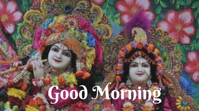 radha krishna gud morning images