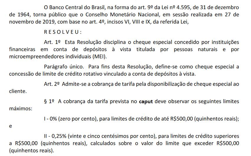 Resolução BC Bolsonaro