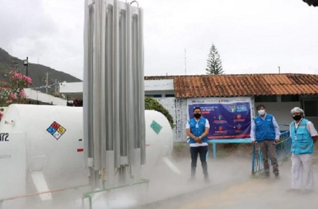 Covid-19: EsSalud Huánuco pone en funcionamiento isotanque de oxígeno