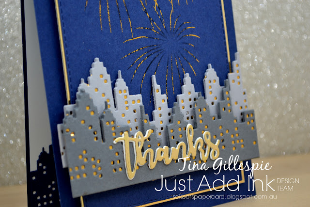 scissorspapercard, Stampin' Up!, Mama Elephant, Uniquely Creative, Ink Road Stamps, Cityscape, Sweet Sentiments Dies, Pitch Please, Rectangle Stitched Dies