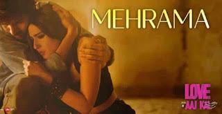 Love aaj kal  mehrama lyrics in Hindi english
