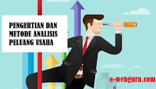 pengertian dan metode analisis peluang usaha' class=