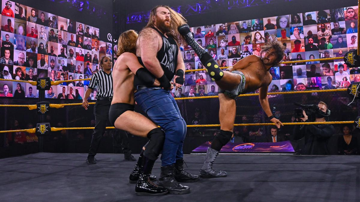 Curt Stallion, August Grey, Killian Dain on WWE 205 Live