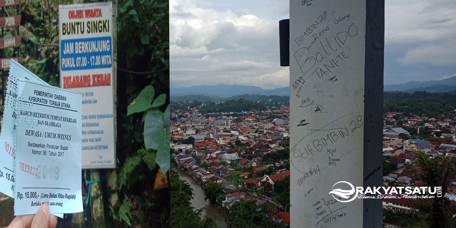 Tarik Retribusi 15 ribu, Begini Penampakan Objek Wisata Buntu Singki' Toraja Utara