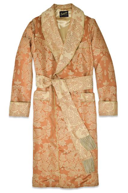 herren hausmantel gold paisley ornamente morgenmantel luxus stilvoll englisch elegant edel baumwolle
