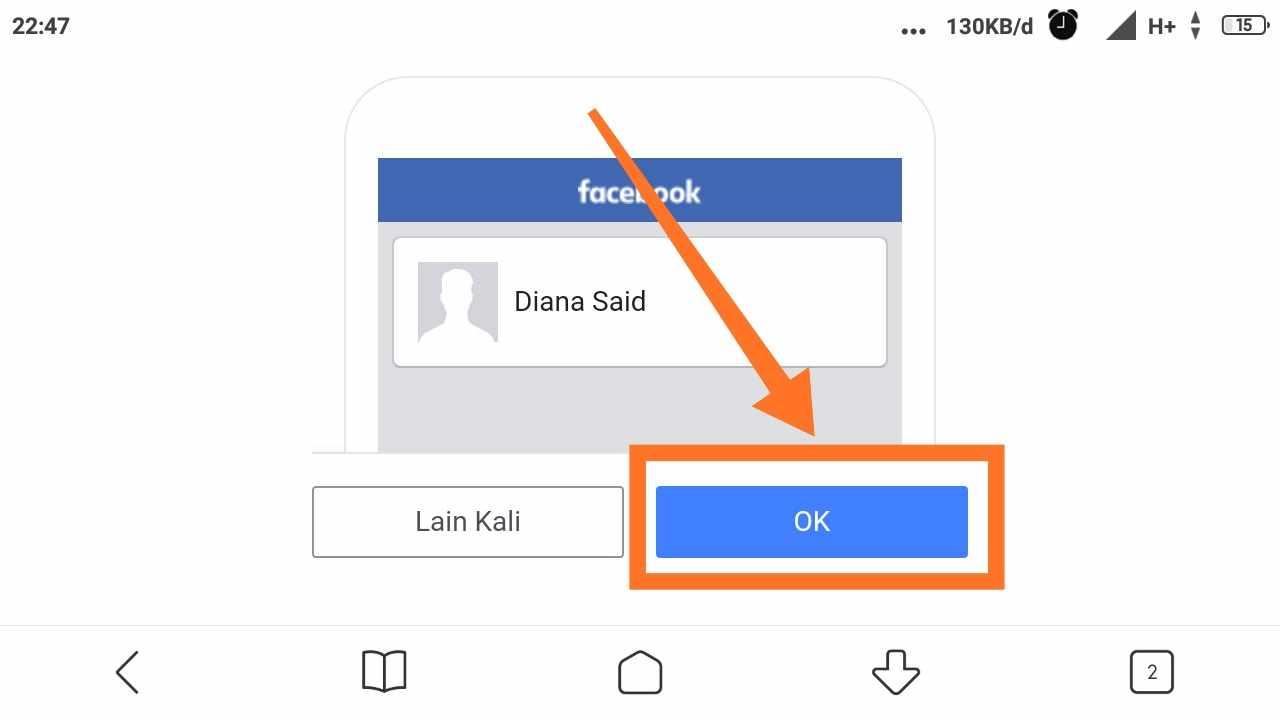 Cara menambah akun FB