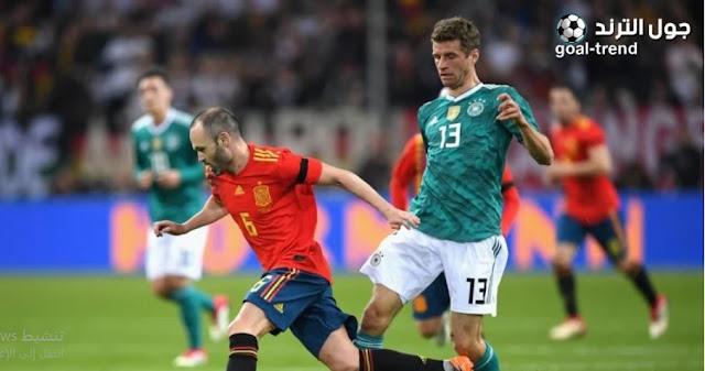 تفاصيل موعد مباراة المانيا واسبانيا في دوري الامم الاوروبية والقنوات الناقلة لها