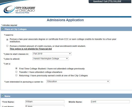 المرحلة الموالية لملئ استمارة edu email